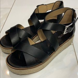 Michael Michael Kors Black Darby Sandals